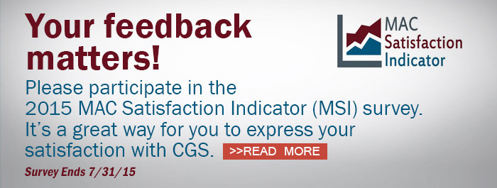 Please participate in the 2015 MAC Satisfaction Indicator survey!