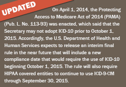 ICD-10 Update